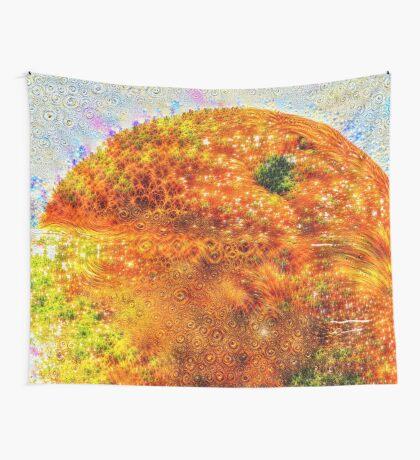 #DeepDreamed Frozen Orange Wall Tapestry