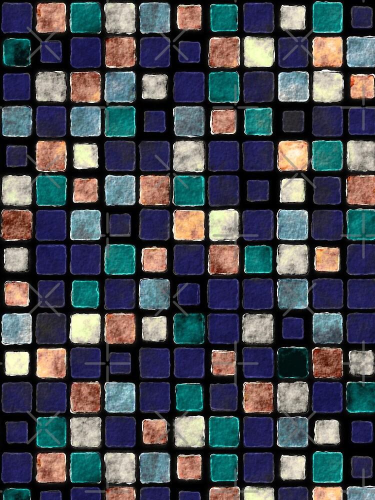 Vintage Squares Pattern by perkinsdesigns