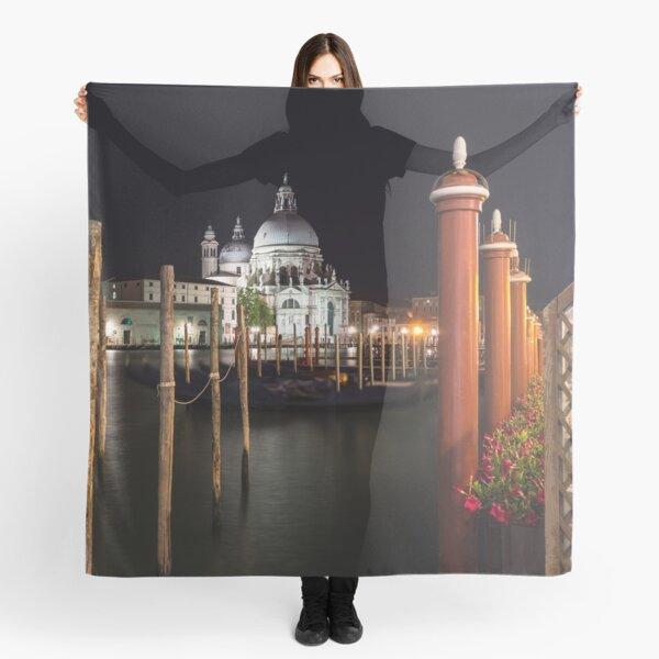 Venice Italy Midnight - Santa Maria della Salute Through a Forest of Paline Scarf