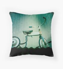 Old Tricycle Throw Pillow