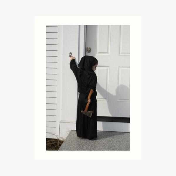 Death always rings the doorbell Art Print