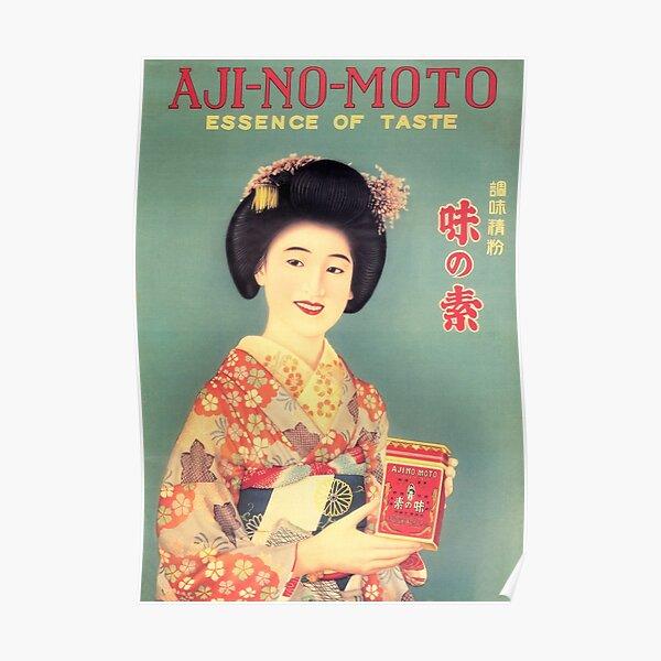 Ajinomoto Seasoning Advertisement Japanese Kimono Lady Vintage Poster