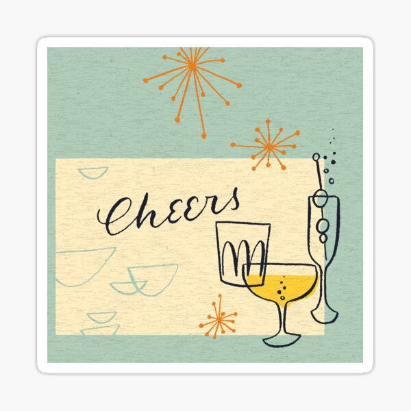 Let's Celebrate - Cheers Sticker