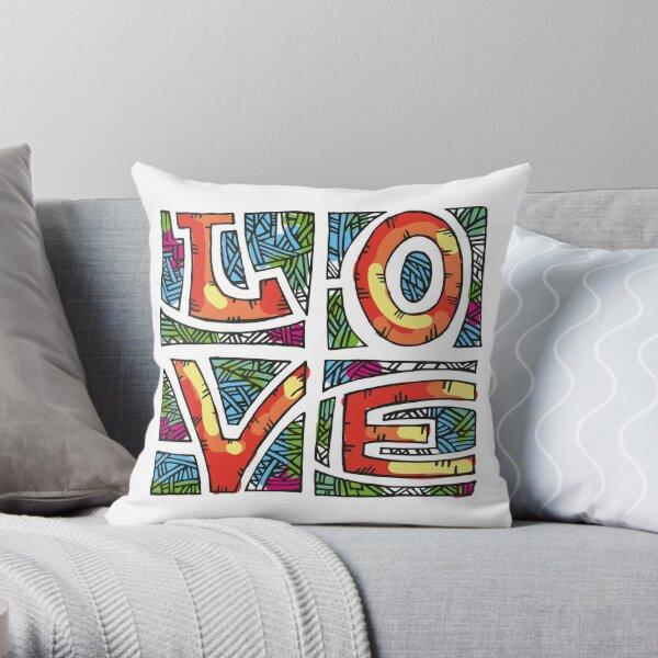 Love Alphabet Throw Pillow