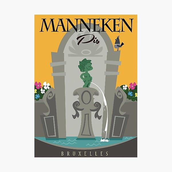 Manneken Pis poster Photographic Print