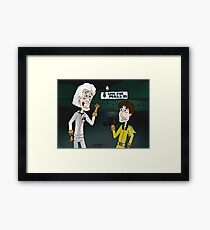 "BttF - Lone Pine Mall ...""Run for it, Marty!"" (Marty's 2 POVs) Framed Print"