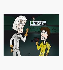 """BttF - Lone Pine Mall ...""""Run for it, Marty!"""" (Marty's 2 POVs) Photographic Print"""