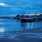 Evening on the lake Lakes Entrance Victoria by Virginia McGowan