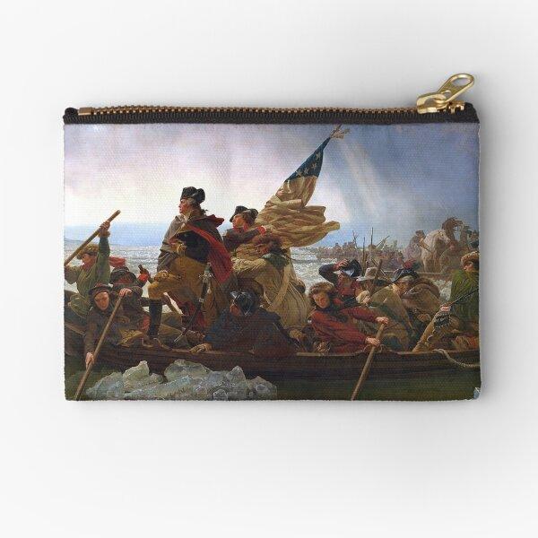 Washington Crossing the Delaware. By the German American artist Emanuel Gottlieb Leutze.  Zipper Pouch