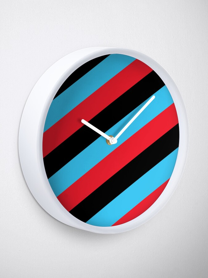 Alternate view of Simplee Stripes: Design 5 of 9 Clock