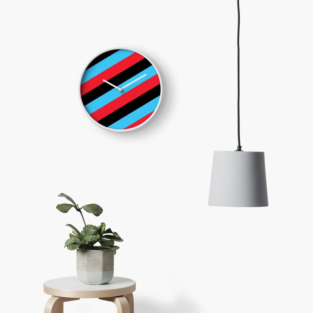 Simplee Stripes: Design 5 of 9 Clock