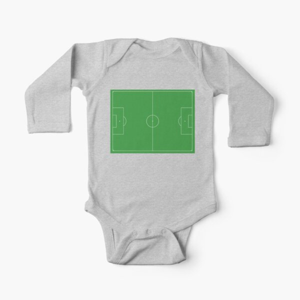 Soccer Pitch, Football Pitch, Soccer Field, Football Field, Football, Soccer, LANDSCAPE. Long Sleeve Baby One-Piece