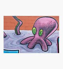 Graffiti Octopus Photographic Print