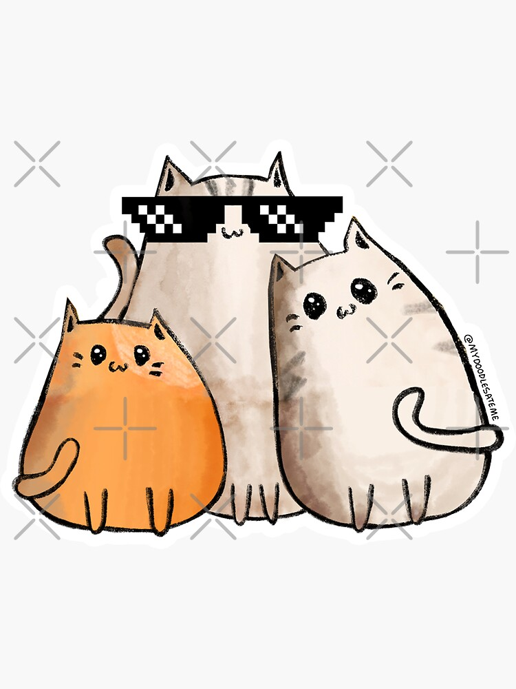Cool Grouchy Cats - Gato - Cat Purr by mydoodlesateme