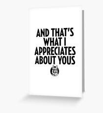 Letterkenny Appreciates Greeting Card