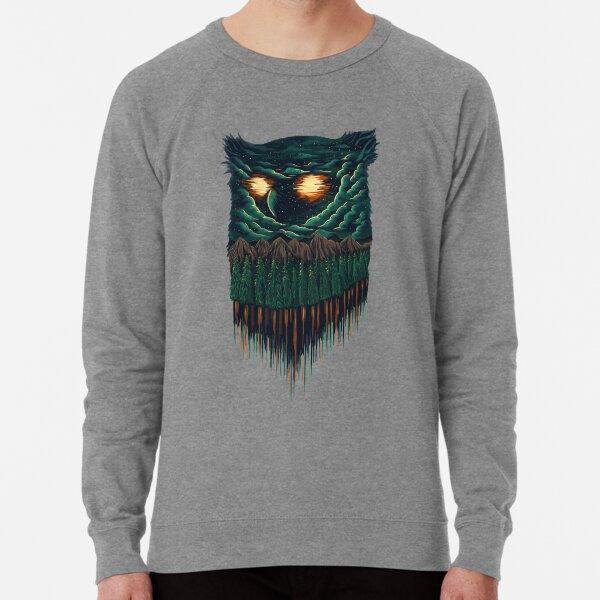 owl forest Lightweight Sweatshirt
