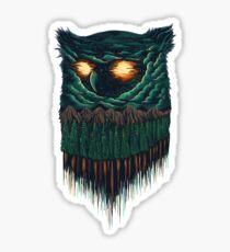 owl forest Sticker