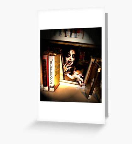 Peekabook Zombie Greeting Card