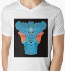 psychedelic  3D  Robot V-Neck T-Shirt