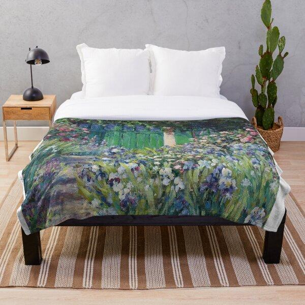 Monet's Garden Door | Painting Throw Blanket