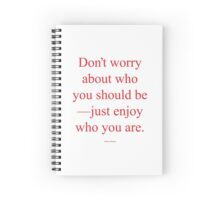 Tobias Sloane Quote Series 3 Spiral Notebook