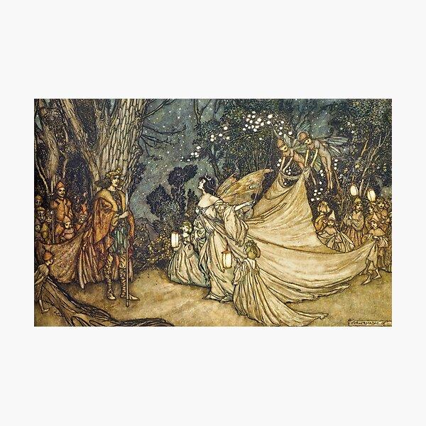 """A Midsummer Night's Dream"" - Arthur Rackham Fairy Tale Art Photographic Print"