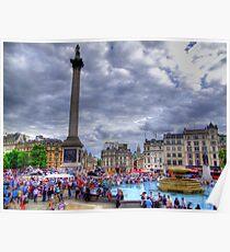 Trafalgar Square - London - HDR Poster