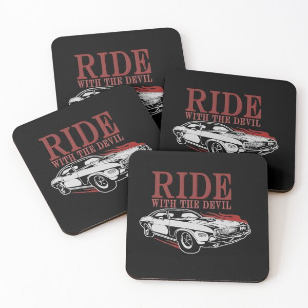 Ride With The Devil Coasters (Set of 4)