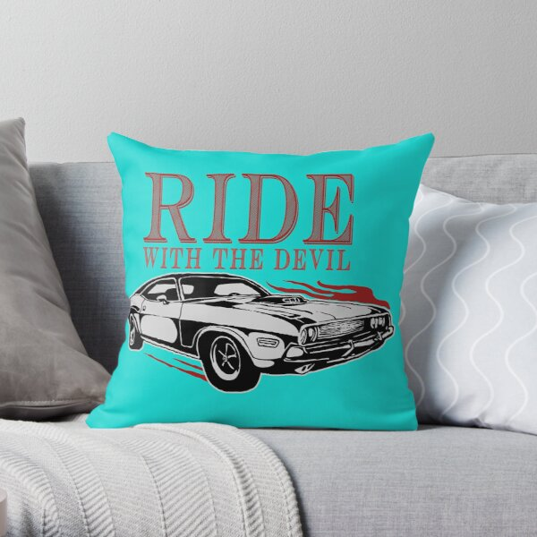 Ride With The Devil Throw Pillow