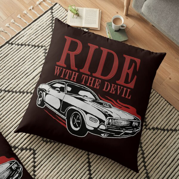 Ride With The Devil Floor Pillow