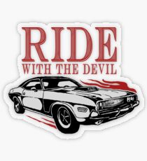 Ride With The Devil Transparenter Sticker