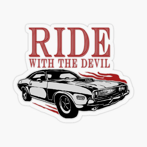 Ride With The Devil Transparent Sticker