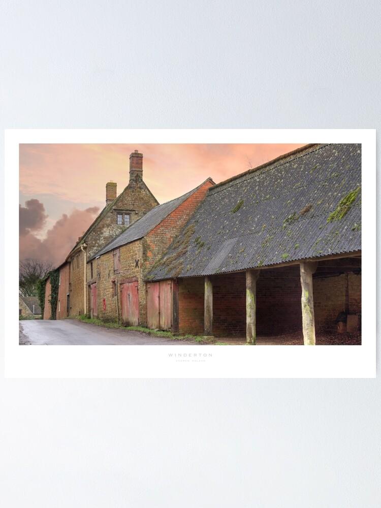 Alternate view of Winderton, Warwickshire Poster
