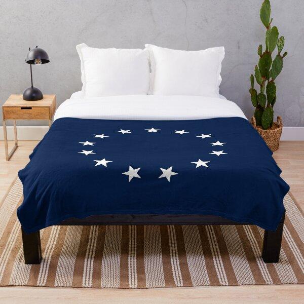 13 Stars Patriotic Circle Throw Blanket