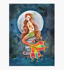 Mermaid by Moonlight Photographic Print