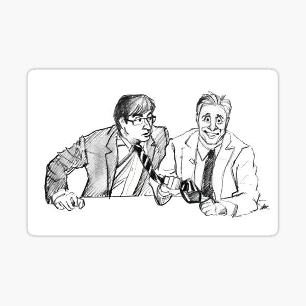 Jon and John Sticker