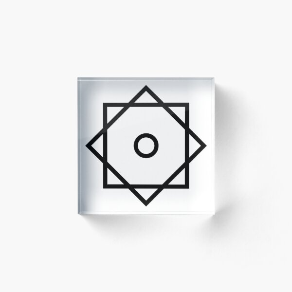 Arabic Star of Rub El Hizb ۞ Logo Faith no More Acrylic Block