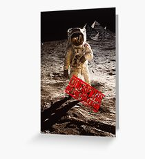 Pyramids on the Moon Greeting Card