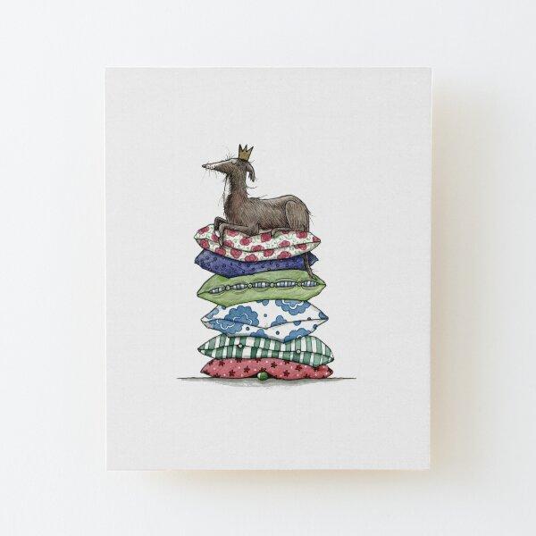 Prinzessin auf der Erbse - Windhund - Galgo - Whippet - Greyhound - Italienisches Windspiel Aufgezogener Druck auf Holz