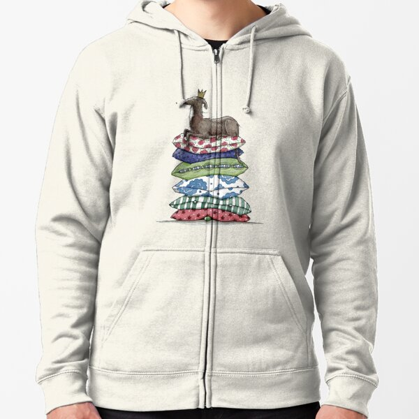 Princess On The Pea - Greyhound - Galgo - Whippet - Italian Greyhound Zipped Hoodie