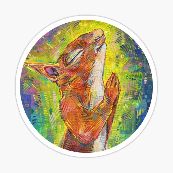 Praying Squirrel Painting - 2014 Sticker