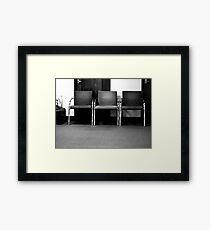 And waiting ... Framed Print