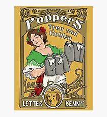 Letterkenny Puppers Art Nouveau Beer Poster Photographic Print