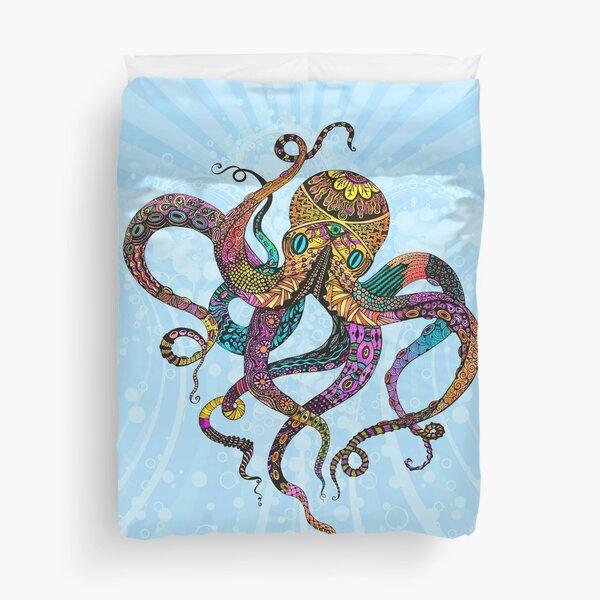 Electric Octopus Duvet Cover