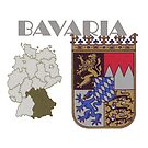 Bayern-Bavaria- Coat of Arms with map by edsimoneit