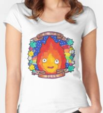 Calcifer - Let all your bacon BURN. Women's Fitted Scoop T-Shirt