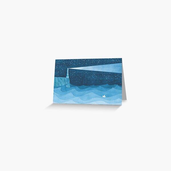 Lighthouse, blue ocean Greeting Card