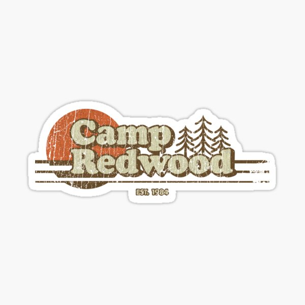 Camp Redwood 1984 Sticker
