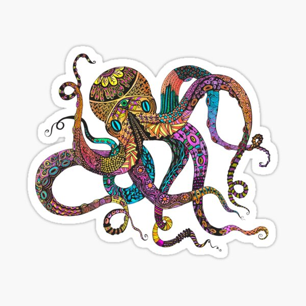 Electric Octopus Sticker