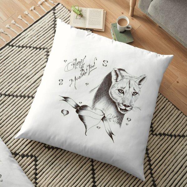 Heart of a mountain lion Floor Pillow